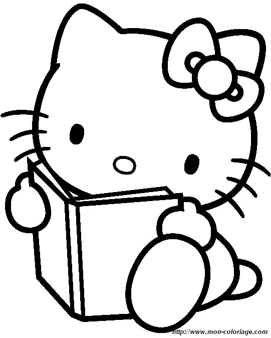 Hello kitty de p que coloriage - Coloriage hello kitty ...