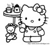 mon coloriage hello kitty