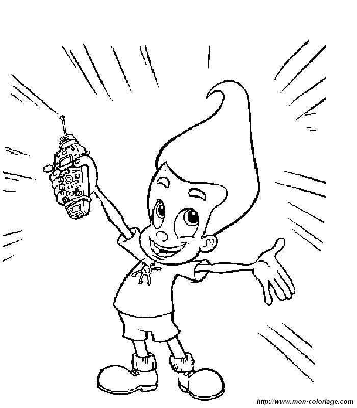 Coloriage De Jimmy Neutron Dessin 006 224 Colorier