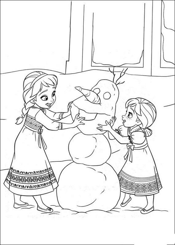 Coloriage de la reine des neiges dessin elsa anna et olaf colorier - Coloriage anna et elsa ...