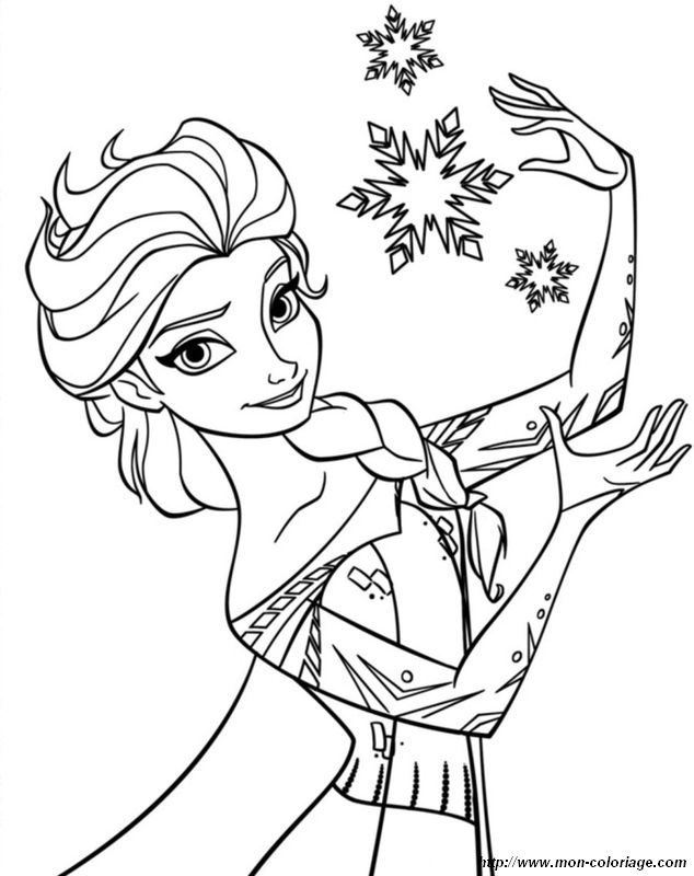 elsa et les flocons de neige - Dessin Elsa