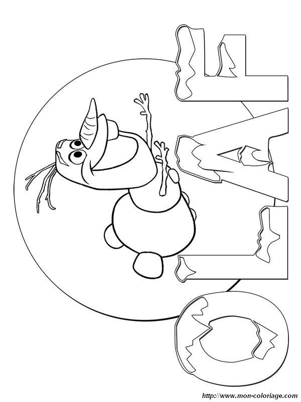 coloriage de la reine des neiges dessin olaf fait du surf