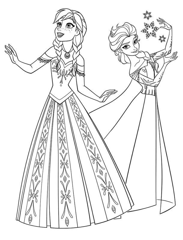 Coloriage De La Reine Des Neiges Dessin Walt Disney Frozen A Colorier