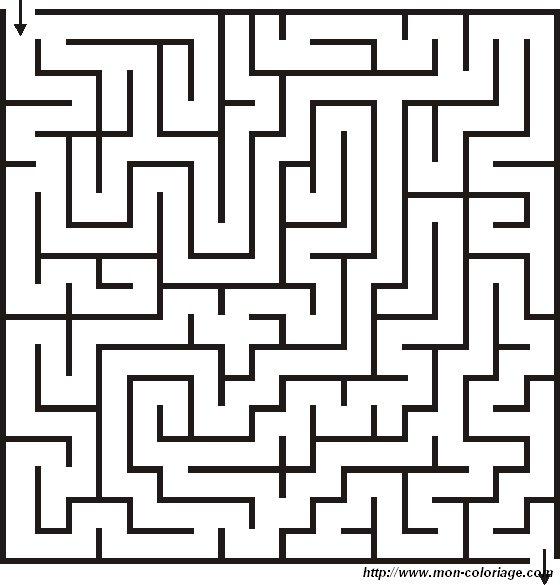 coloriage de jeux de labyrinthe  dessin labyrinthe 02  u00e0