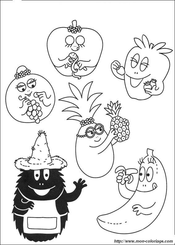 coloriage de les barbapapa dessin barbapapa 440 à colorier