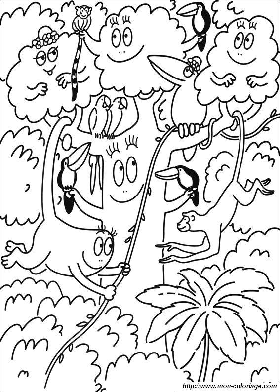 Coloriage de les barbapapa dessin barbapapa 7 colorier - Coloriage barbapapa ...