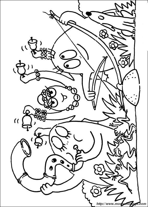 Coloriage de les barbapapa dessin barbapapa 5 colorier - Barbapapa dessin ...
