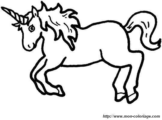 Coloriage de licorne dessin licorne 003 colorier - Libero unicorno pagine da colorare ...