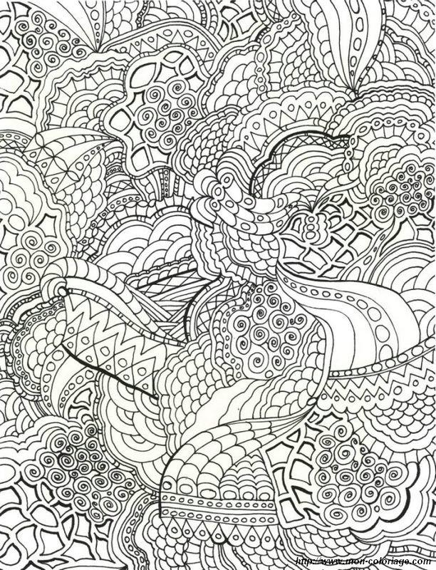Coloriage de mandala dessin il faut colorier de nombreux for Disegni da colorare difficili