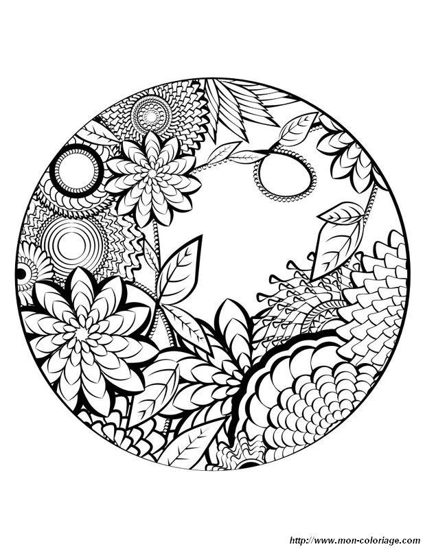 Coloriage de mandala dessin joli mandala de printemps - Coloriage mandala printemps ...
