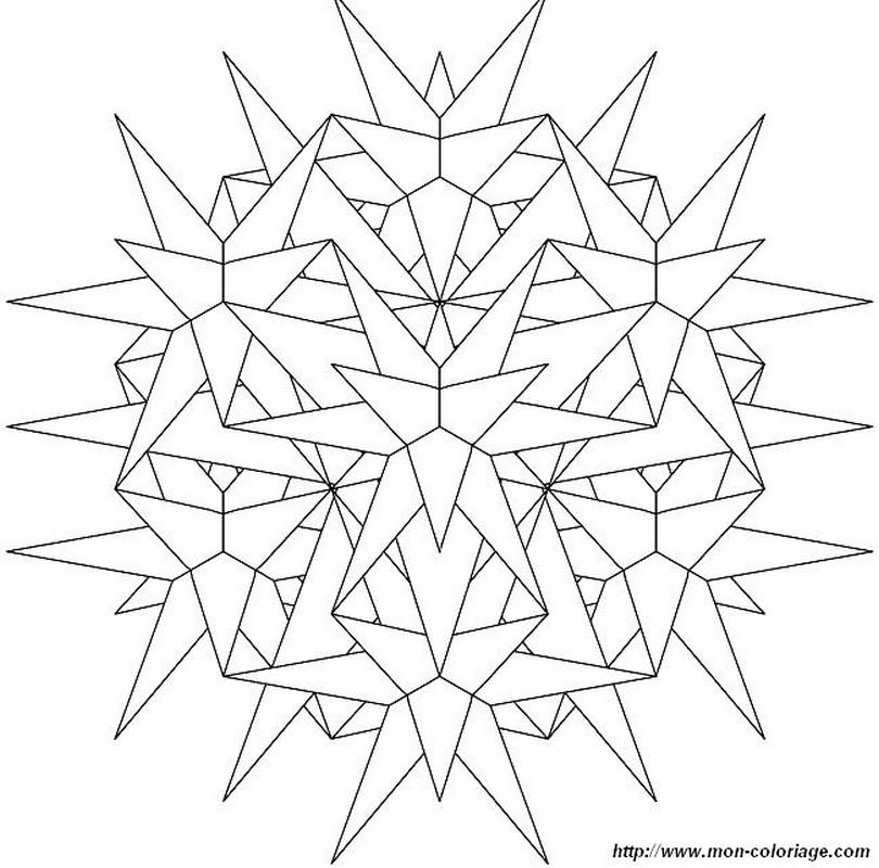 Coloriage de mandala dessin flocon de neige en cristal colorier - Dessin flocon de neige simple ...
