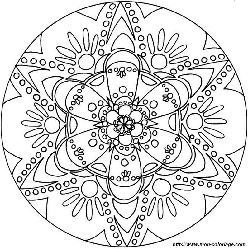 mandala avec des fleurs