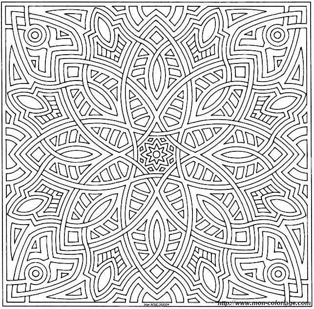 Super Advanced Coloring Pages : Coloriage de mandala dessin mandalas a à