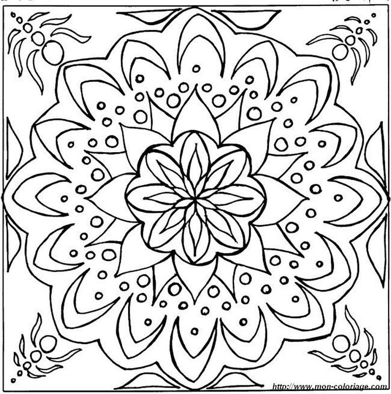 Coloriage De Mandala Dessin Sous La Mer à Colorier