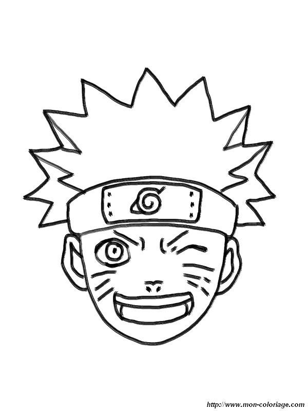Coloriage de manga dessin naruto son visage colorier - Coloriage naruto gaara ...