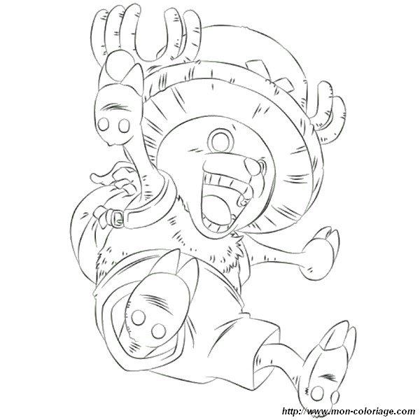 Coloriage De Manga Dessin One Piece A Colorier