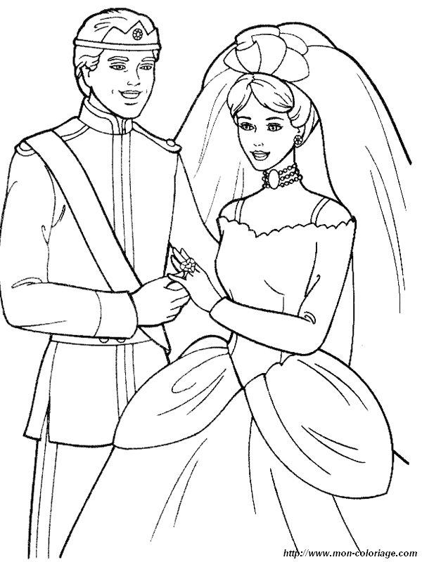 Coloriage de Mariage dessin coloriage
