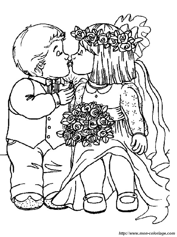 Coloriage De Mariage Dessin Coloriage Mariage Enfants 224