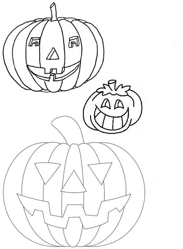 Coloriage de d coupage ou scrapbooking dessin colorier - Citrouille a colorier halloween ...