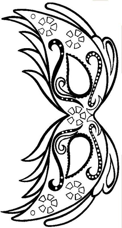 coloriage de d coupage ou scrapbooking dessin masque de carnaval a colorier et imprimer colorier. Black Bedroom Furniture Sets. Home Design Ideas
