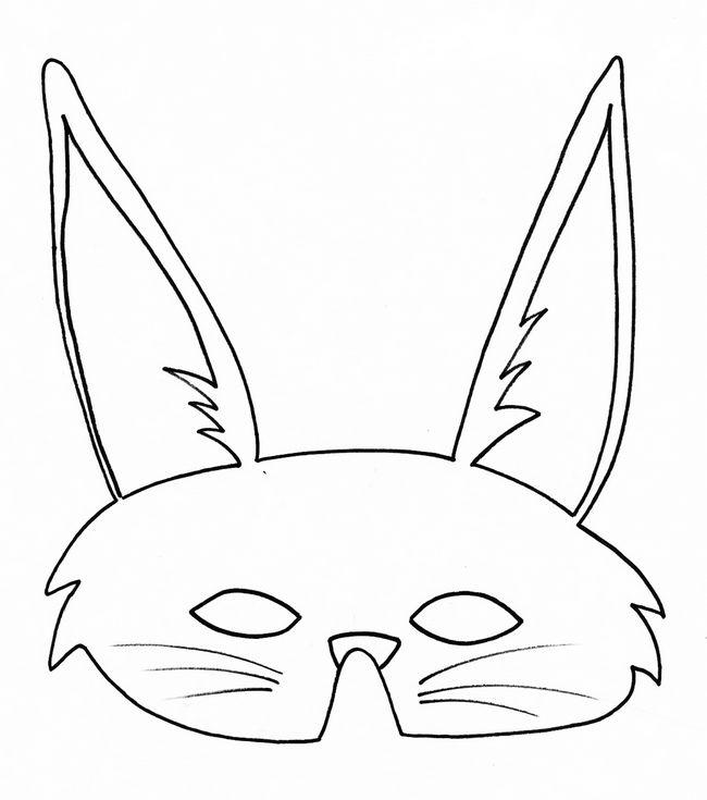Coloriage de d coupage ou scrapbooking dessin masque de - Dessin oreille de lapin ...