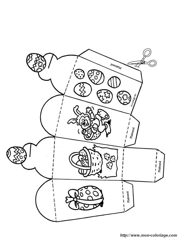 Coloriage de d coupage ou scrapbooking dessin decoupage - Decoupage collage a imprimer ...