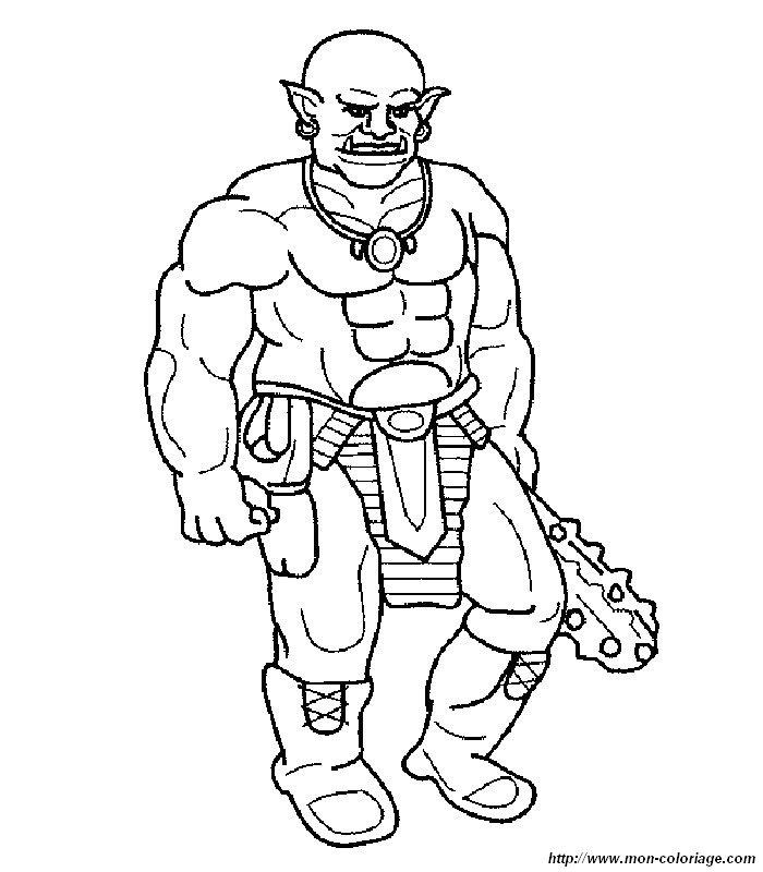 Coloriage de monstres et ogres dessin coloriages ogres for Disegni marini da stampare