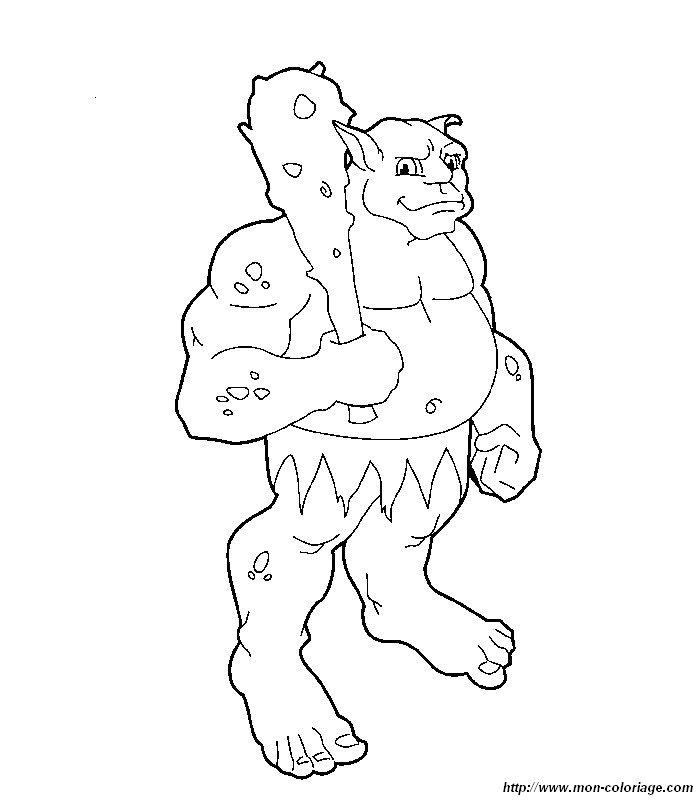 Coloriage de monstres et ogres dessin monstre a colorier colorier - Monstre a colorier ...