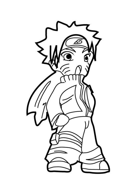 Coloriage de naruto dessin chibi de naruto colorier - Naruto dessin colorier ...