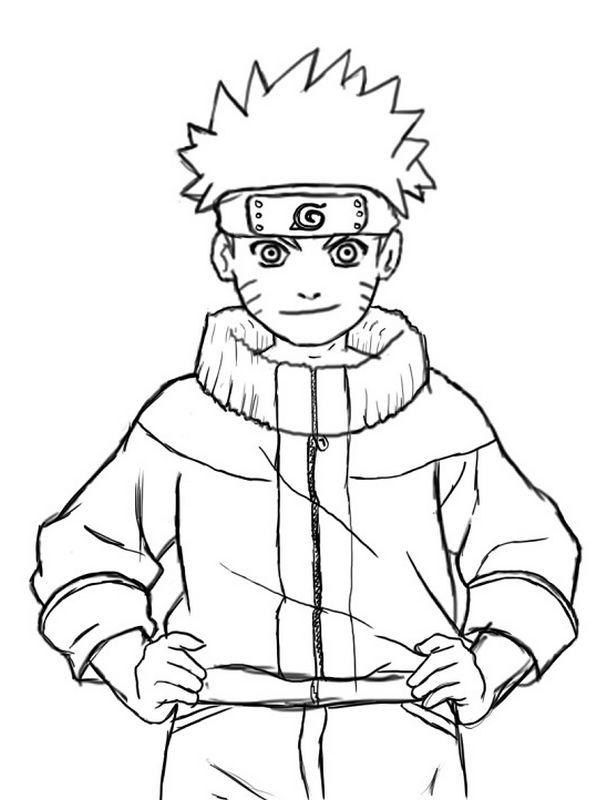 Coloriage de naruto dessin dessiner naruto facilement colorier - Dessiner un ninja ...