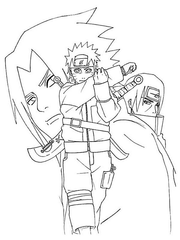 Coloriage de naruto dessin sasuke uchiwa colorier - Image a colorier naruto ...