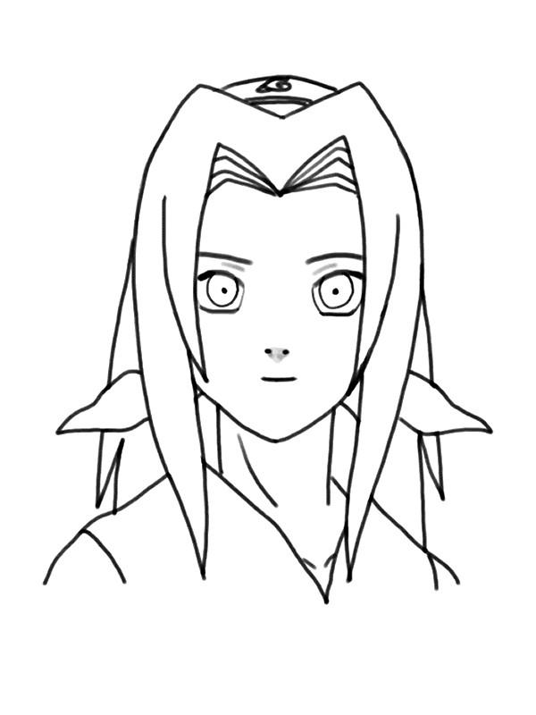 Coloriage De Naruto Dessin Un Visage Sympathique à Colorier