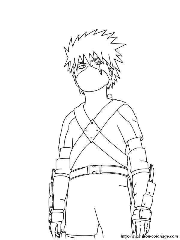 Coloriage de naruto dessin coloriage naruto kakashi jpg - Coloriage sasuke ...