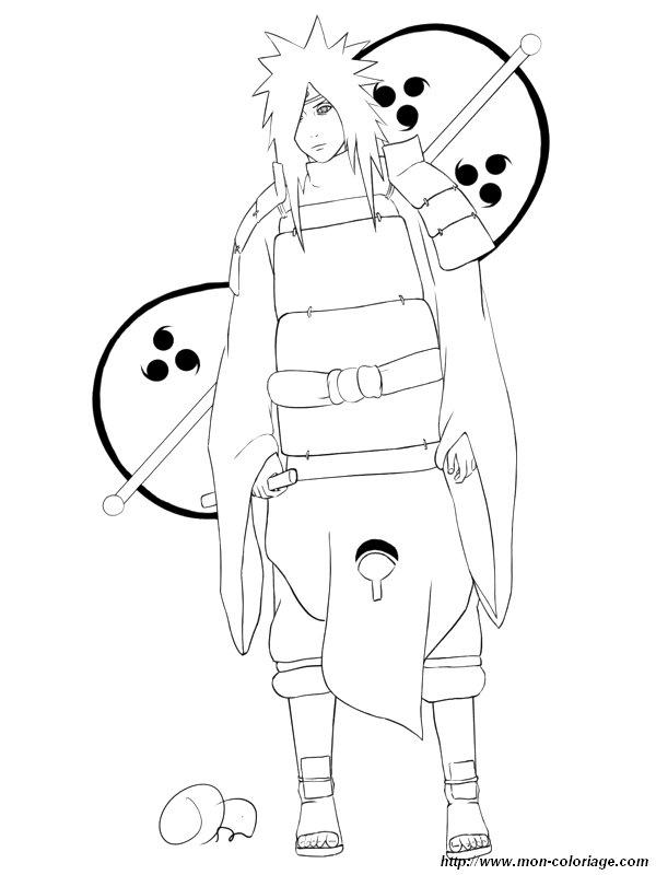 Coloriage de naruto dessin coloriage naruto madara colorier - Naruto coloriage en ligne ...