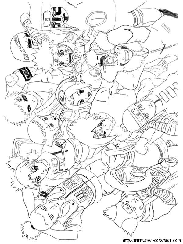 Coloriage de naruto dessin coloriage naruto colorier - Naruto coloriage en ligne ...