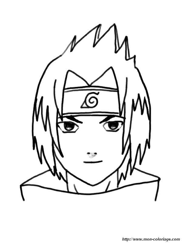 Coloriage De Naruto Dessin Coloriage Sasuke à Colorier