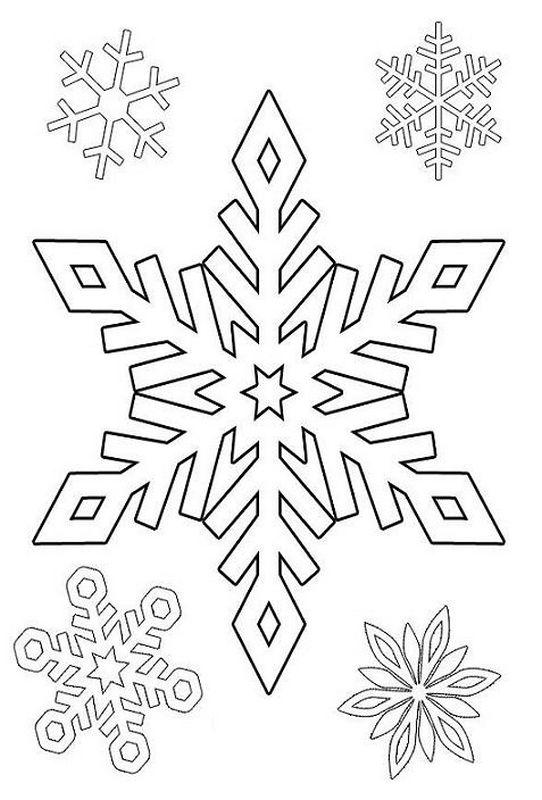 Coloriage de hiver et neige dessin etoile des neiges colorier - Dessin etoile des neiges ...