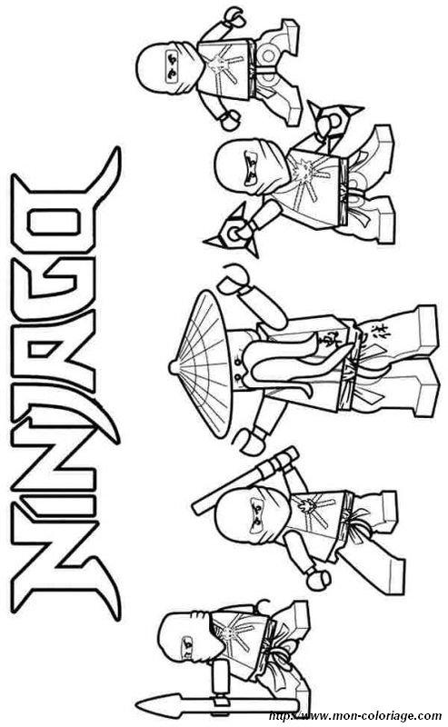 Coloriage De Ninjago Dessin Ils Sont Tous Dans Cette Image A Colorier