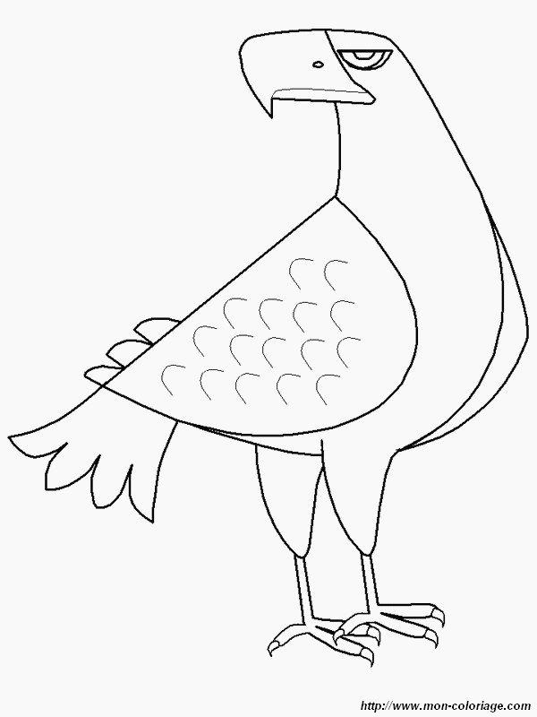 coloriage de oiseau dessin l aigle noir colorier. Black Bedroom Furniture Sets. Home Design Ideas