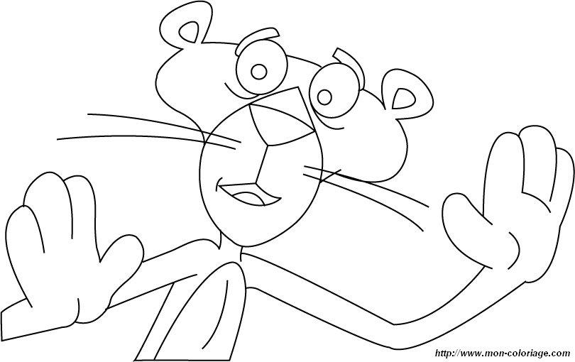Coloriage de la panth re rose dessin coloriage la panthere rose colorier - Panthere rose dessin anime ...