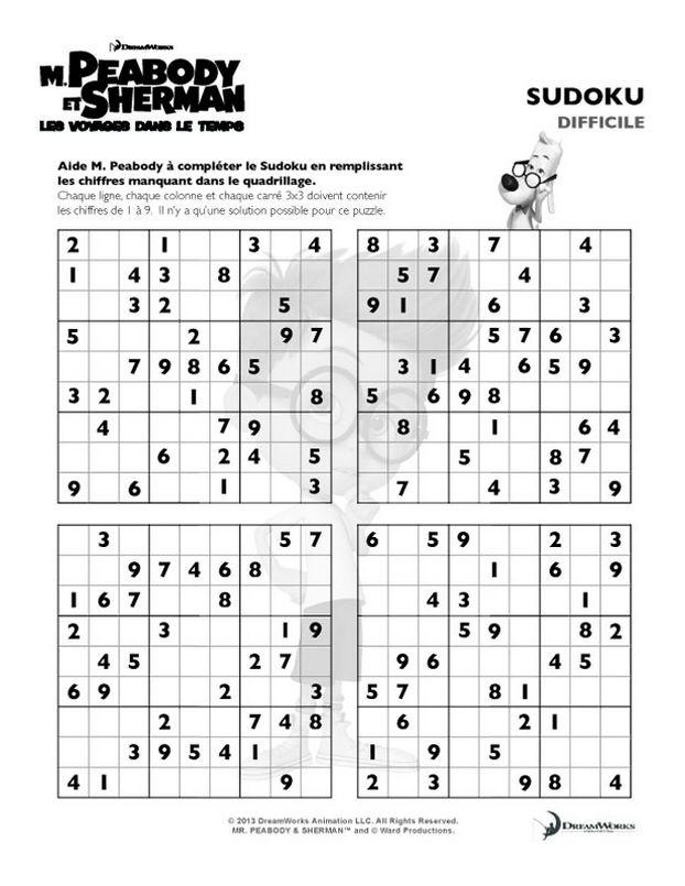 Coloriage De Peabody Dessin Sudoku Un Peu Difficile à Colorier