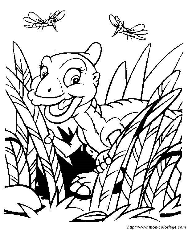 Coloriage Petit Pied Le Dinosaure.Coloriage De Le Petit Dinosaure Dessin Petit Pied 05 A Colorier