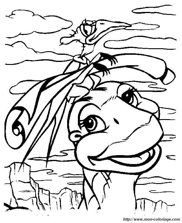 Coloriage de le petit dinosaure dessin petit pied 07 colorier - Petit pieds dinosaure ...