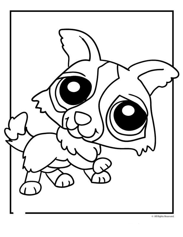 Coloriage de petshop dessin un pet shop curieux colorier - Coloriage lps ...