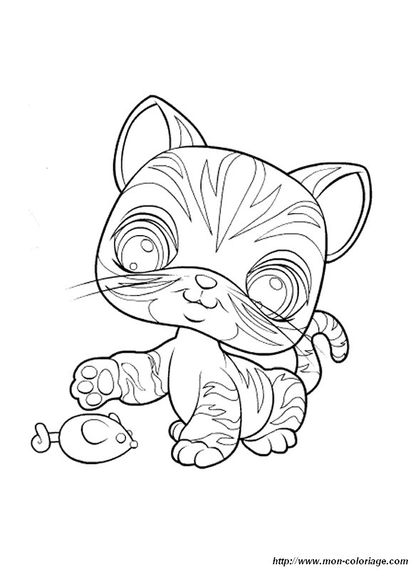 Coloriage de petshop dessin coloriage petshop chat colorier - Coloriage pet shop ...