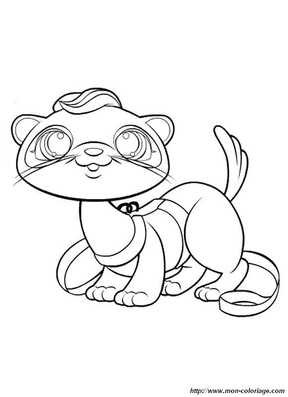 Coloriage de petshop dessin coloriage petshop fouine - Petshop gratuit ...