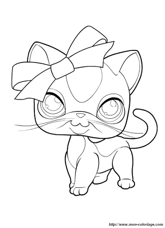 Coloriage de petshop dessin petshop a colorier colorier - Dessin pet shop ...
