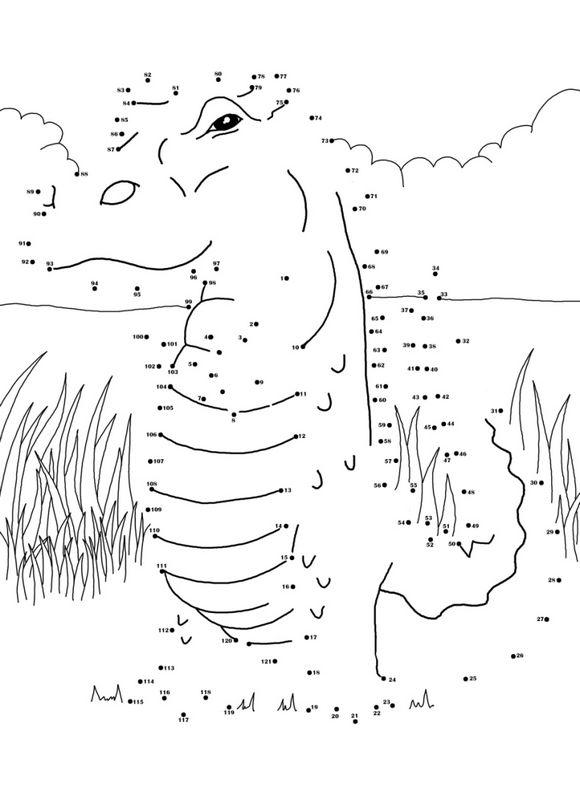 Coloriage de points relier dessin points a relier de crocodile colorier - Dessin anime de crocodile ...