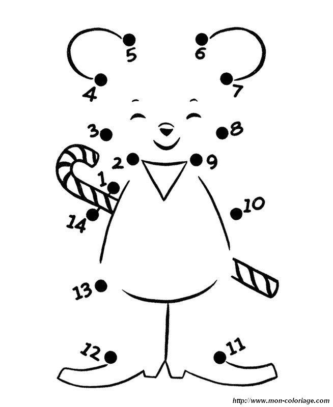 Coloriage de points relier dessin petite souris avec - Dessin de petite souris ...