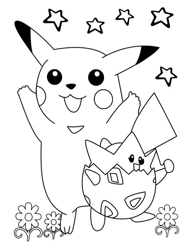 Coloriage De Pokemon Dessin Un Coloriage Pour Paques A Colorier